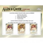 2020 Topps Allen & Ginter Chrome Baseball Hobby 12 Box Case