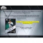 2020 Topps Chrome Black Baseball Hobby Box