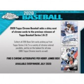 2020 Topps Chrome Baseball Jumbo HTA 8 Box Case