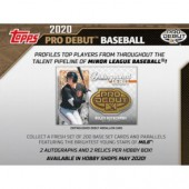 2020 Topps Pro Debut Baseball Hobby 12 Box Case