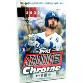 2020 Topps Stadium Club Chrome Baseball Hobby 16 Box Case