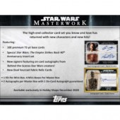 2020 Topps Star Wars Masterwork Hobby 8 Box Case