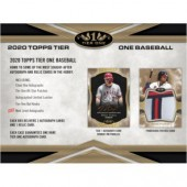 2020 Topps Tier One Baseball Hobby 12 Box Case