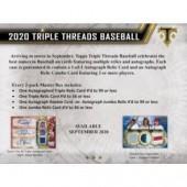 2020 Topps Triple Threads Baseball Hobby 9 Box Case