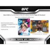 2020 Topps UFC Knockout Hobby 12 Box Case