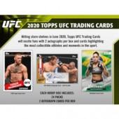 2020 Topps UFC Hobby 12 Box Case