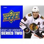 2021/22 Upper Deck Series 2 Hockey Hobby 12 Box Case