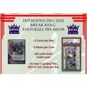2021 Break King Premium Edition Football 3 Box Case
