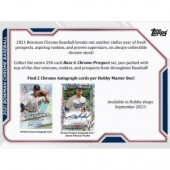 2021 Bowman Chrome Baseball Hobby 12 Box Case