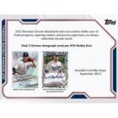 2021 Bowman Chrome Baseball HTA Choice 12 Box Case