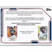 2021 Bowman Chrome Baseball LITE 16 Box Case