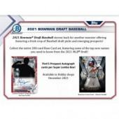 2021 Bowman Draft Baseball Super Jumbo 6 Box Case