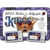 2021 Historic Autographs Kings Series 3 Multi-Sport 4 Box Case