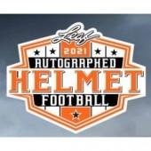 2021 Leaf Autographed Full Sized Helmet Football 4 Box Case