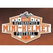 2021 Leaf Autographed Mini Helmet Football 10 Box Case
