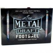 2021 Leaf Metal Draft Football Hobby 15 Box Case