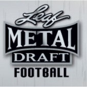 2021 Leaf Metal Draft Football Jumbo 8 Box Case