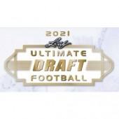 2021 Leaf Ultimate Draft Football Hobby 12 Box Case