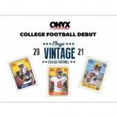 2021 Onyx Vintage Collection College Football Box