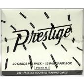 2021 Panini Prestige Football Jumbo Value 12-Pack Box