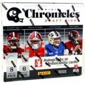 2021 Panini Chronicles Draft Picks Football Hobby 16 Box Case