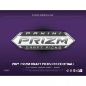 2021 Panini Prizm Collegiate Draft Picks Football Hobby 16 Box Case