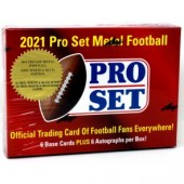 2021 Pro Set Metal Football Hobby 10 Box Case