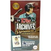 2021 Topps Archives Signature Series Retired Player Ed Baseball 20 Box Case