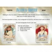 2021 Topps Allen & Ginter Chrome Baseball Hobby Box