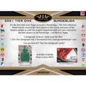 2021 Topps Tier One Bundesliga Soccer Hobby 12 Box Case