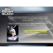 2021 Topps Chrome Black Baseball Hobby 12 Box Case