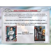 2021 Topps Chrome Formula 1 Racing Lite 16 Box Case