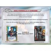 2021 Topps Chrome Formula 1 Racing Hobby 12 Box Case