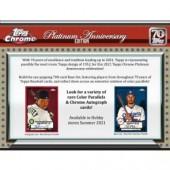 2021 Topps Chrome Platinum Anniversary Baseball Hobby 12 Box Case
