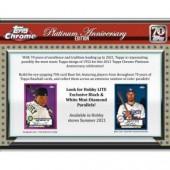 2021 Topps Chrome Platinum Anniversary Baseball Lite 16 Box Case