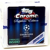 2020/21 Topps UEFA Champions League Chrome Soccer Sapphire Edition Box