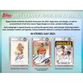 2021 Topps Clearly Authentic Baseball Hobby 20 Box Case