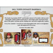 2021 Topps Dynasty Baseball Hobby Box