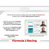 2021 Topps Dynasty Formula 1 Racing Hobby 5 Box Case