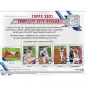2021 Topps Complete Baseball Factory Set - Hobby 12 Set Case