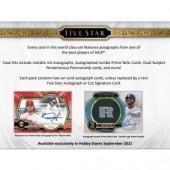 2021 Topps Five Star Baseball Hobby 8 Box Case