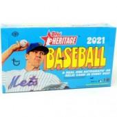 2021 Topps Heritage Baseball Hobby 12 Box Case