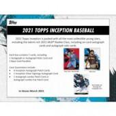2021 Topps Inception Baseball Hobby 16 Box Case