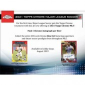 2021 Topps MLS Chrome Soccer 12 Box Case