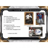 2021 Topps Museum Collection Baseball Hobby 12 Box Case