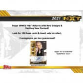 2021 Topps WWE NXT Wrestling Hobby 12 Box Case