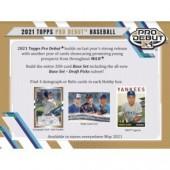 2021 Topps Pro Debut Baseball Hobby 12 Box Case