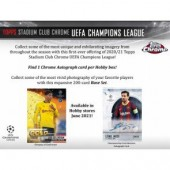 2020/21 Topps UEFA Champions League Stadium Club Chrome Soccer Hobby 12 Box Case