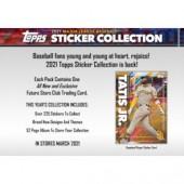 2021 Topps MLB Sticker Collection Album Baseball 8 Box Case