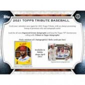 2021 Topps Tribute Baseball Hobby 6 Box Case
